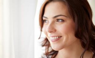 woman after tooth whitening treatment