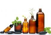 bottles of natural oils