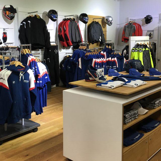 BMW Motorrad Store Merchandising and Visual Branding