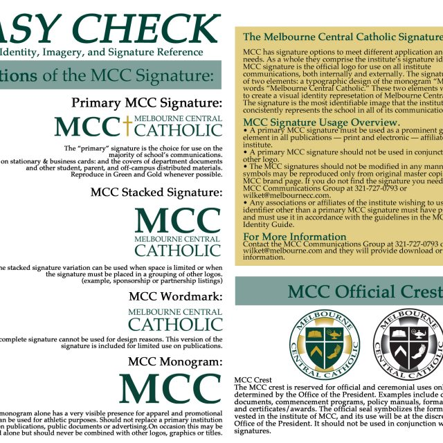 Melbourne Central Catholic Branding Project
