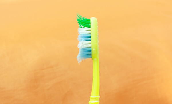 Used Toothbrush in side