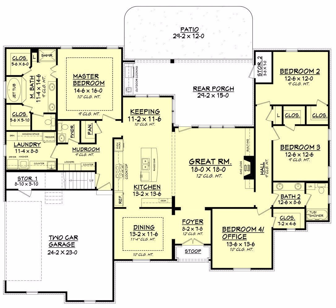 The Cascade Floor Plan Trinity Classic Homes