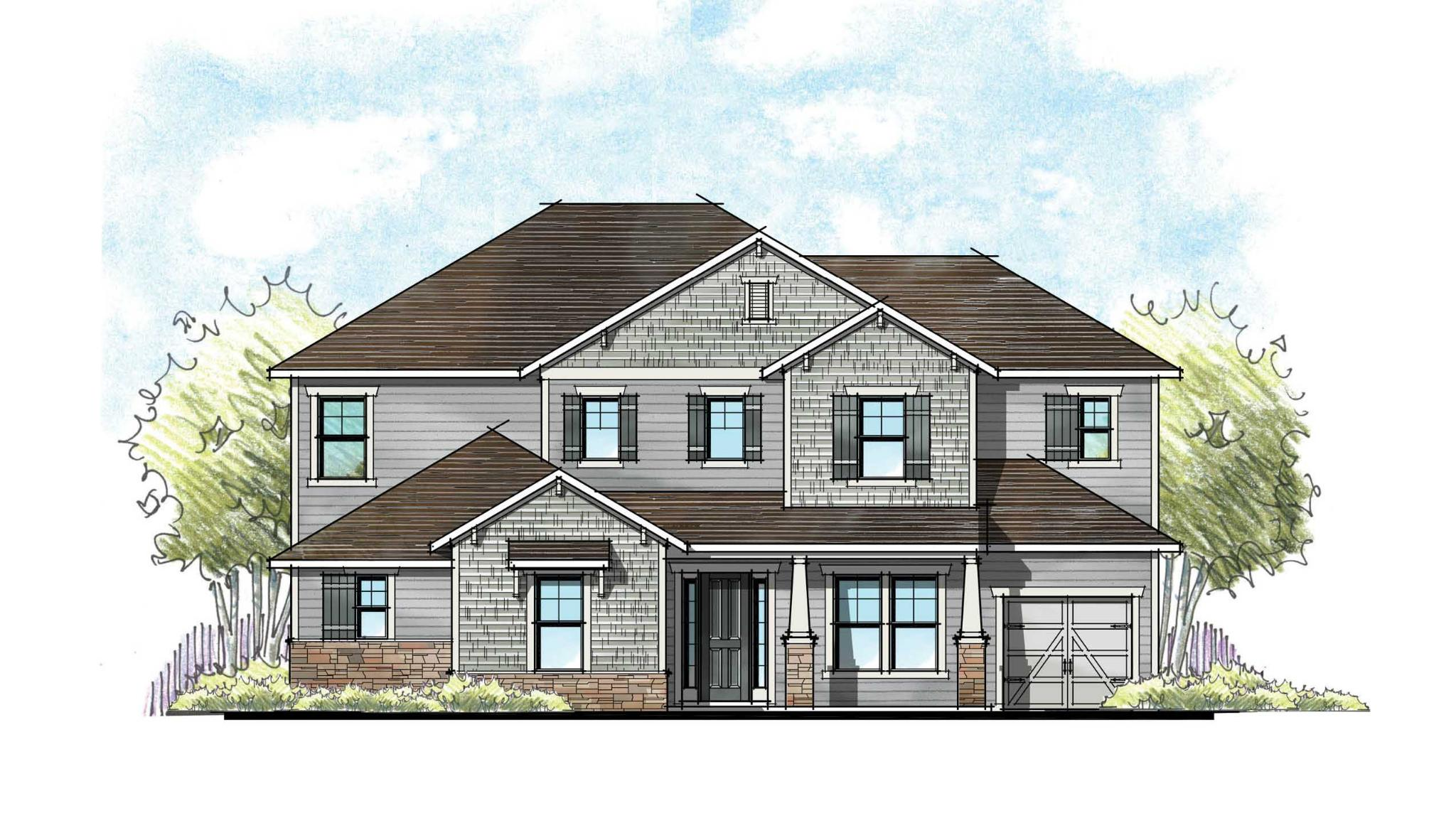 The Marion Craftsman Elevation 4