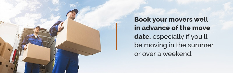 book movers before you move