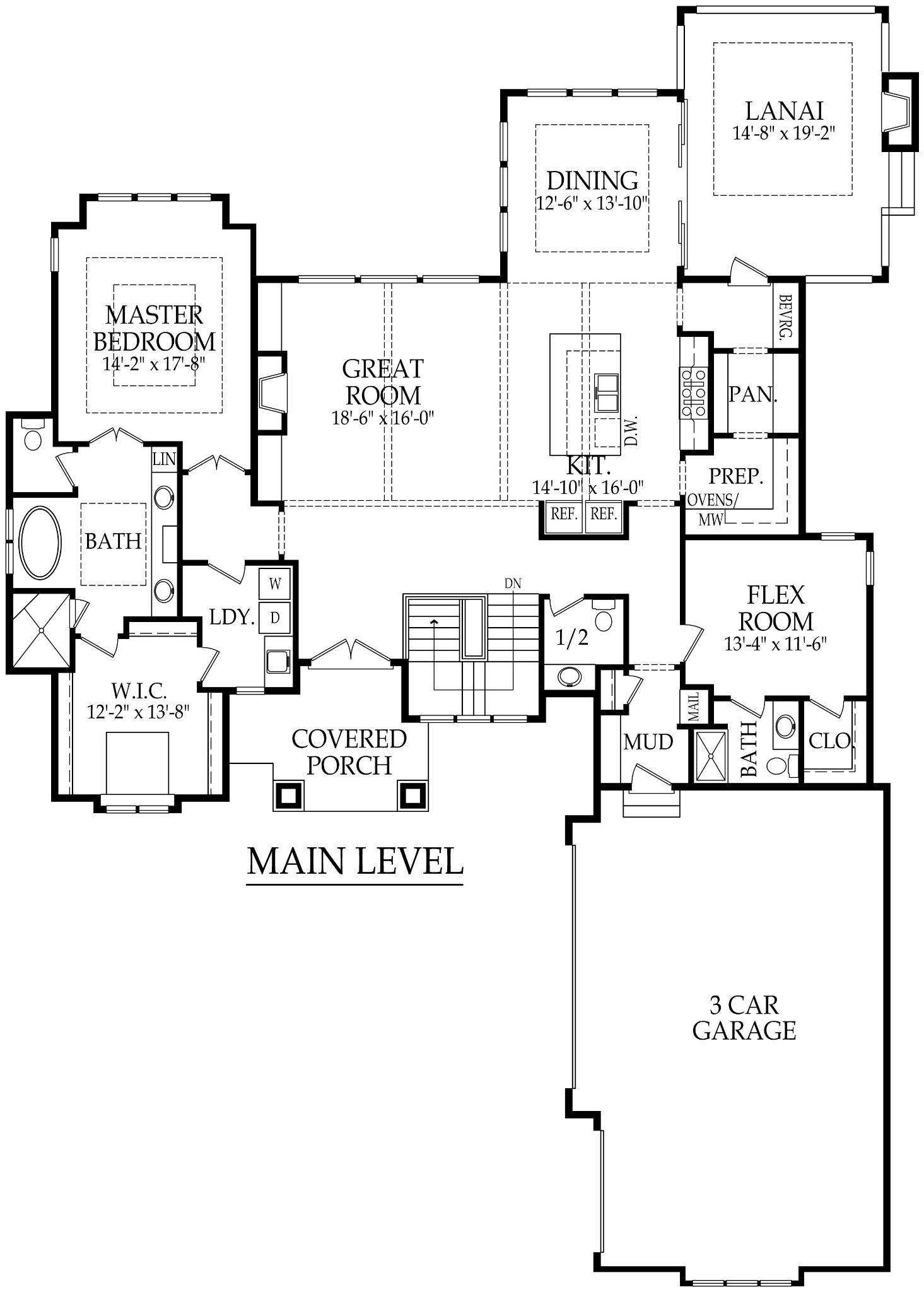 New home in Loch Lloyd by Starr Homes Sanibel floor plan main level