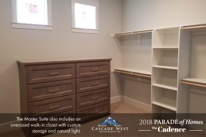 The Walk-In Master Closet (attached to the Master Bath)