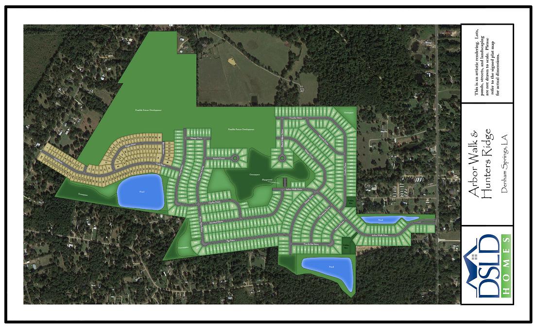 Arbor Walk | DSLD Homes | New Homes in Denham Springs LA on