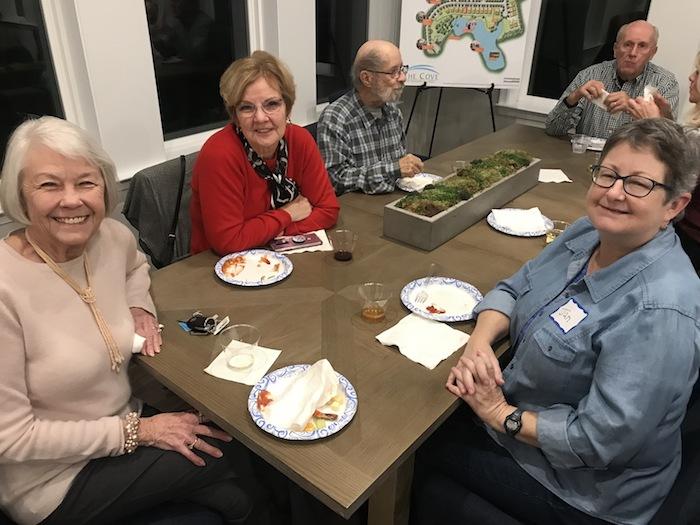 Homeowners at social gathering.