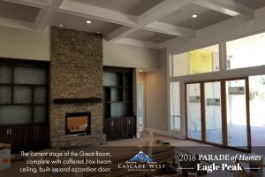 Parade of Homes 2018 : Eagle Peak : Great Room Under Construction