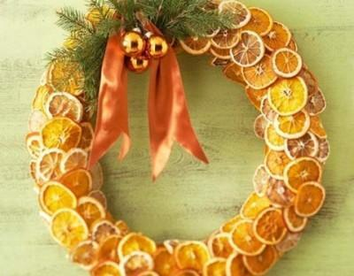 orange slice wreath