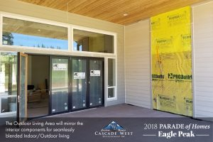 Parade of Homes 2018 : Eagle Peak : Outdoor Fireplace and Seating : Under Construction
