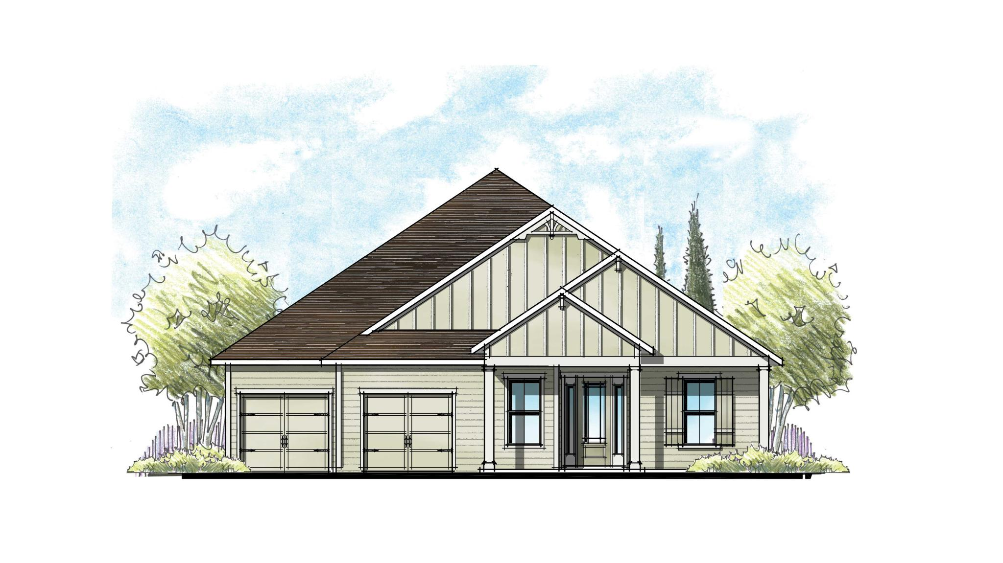 The Magnolia at Florida Farmhouse Craftsman Elevation 11