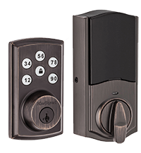 DSLD Homes smart technology keyless entry electronic deadbolt