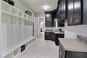 Mud Room with XL Mud Bench, Utility Sink, Washer, Dryer, Closet, and Custom Storage