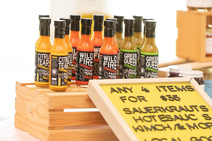 Hot sauces.