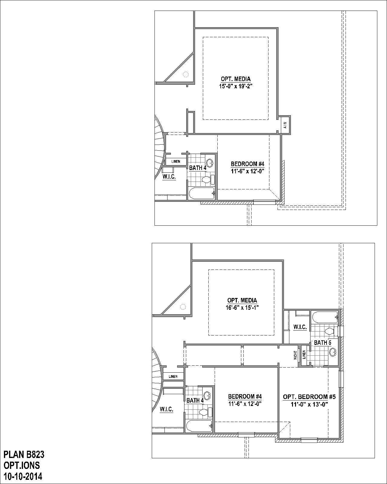 Plan 823 Floor Plan