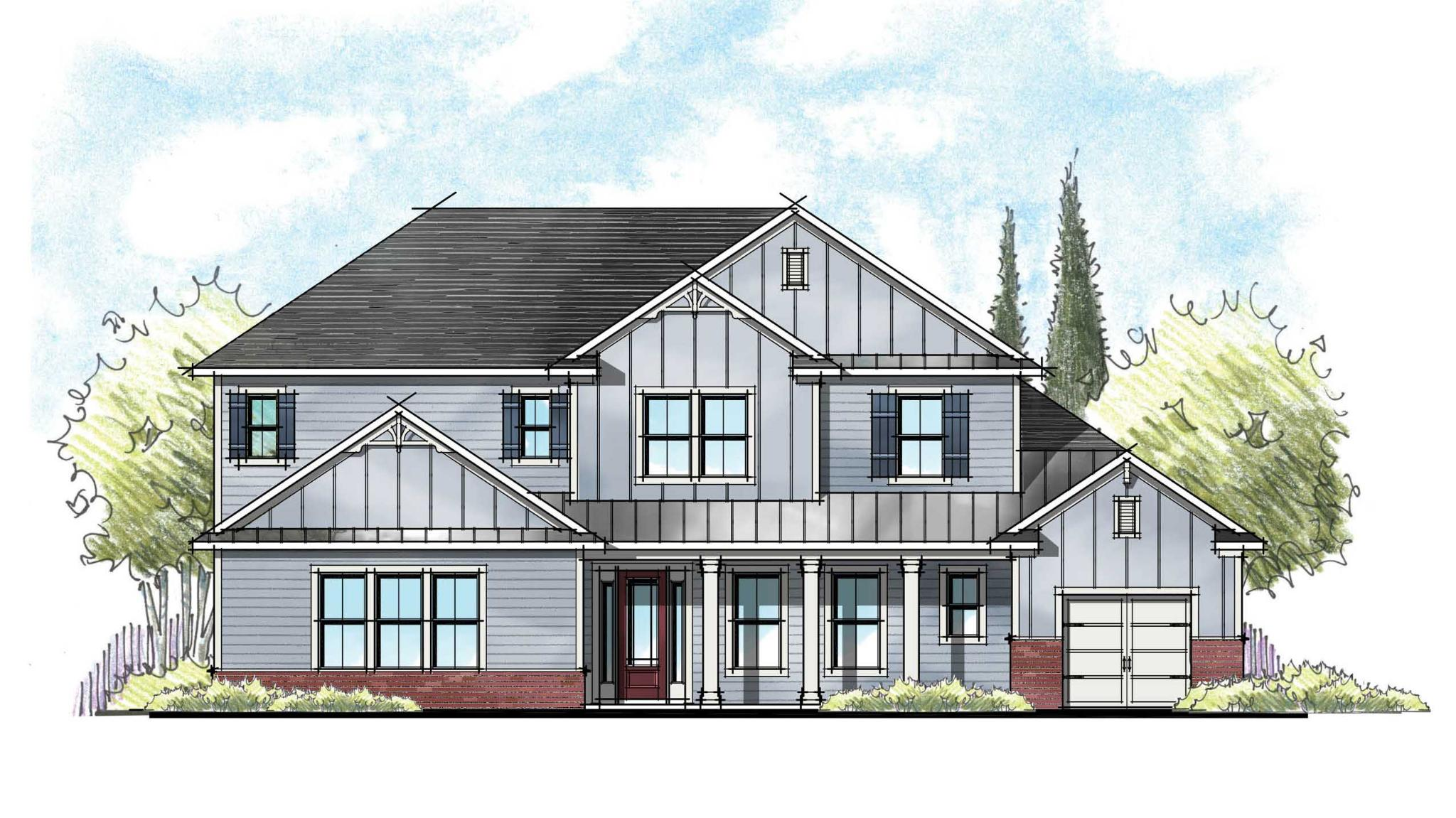 The Charlotte Farmhouse Elevation 5