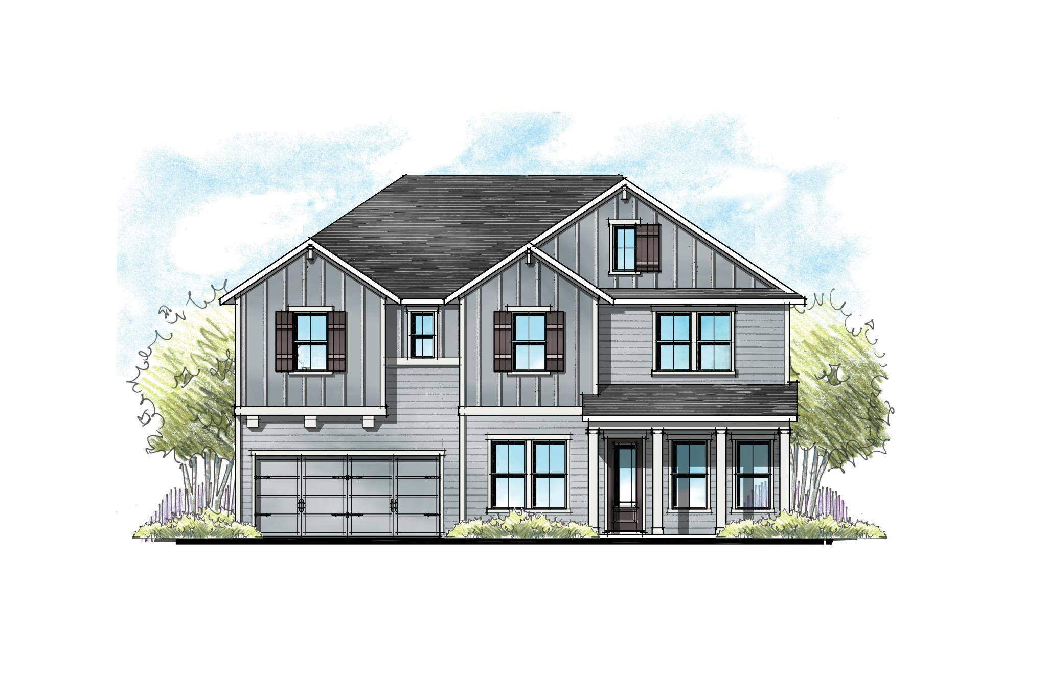 The Alexander at Crosswater Florida Farmhouse Elevation 10