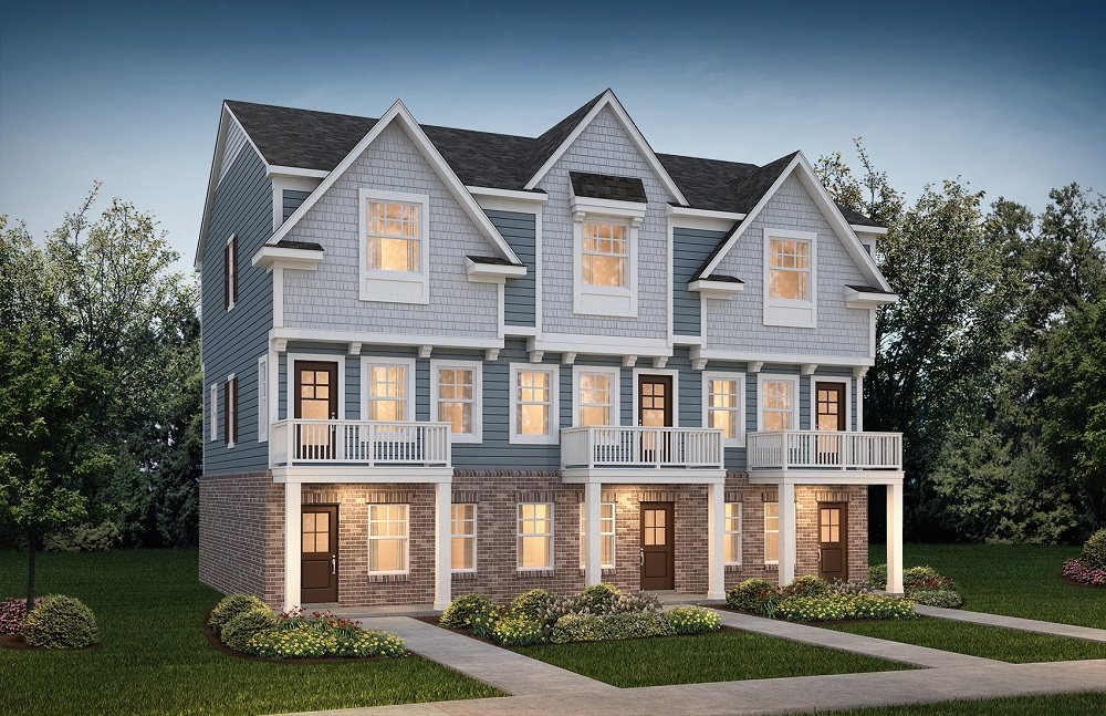 Two-story townhomes in Hazel Park, Michigan representing condos for sale by Robertson Homes