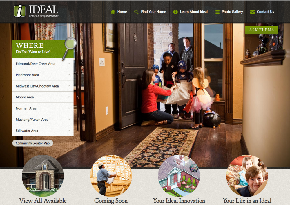 Find a new home in Oklahoma City with Ideal Homes website