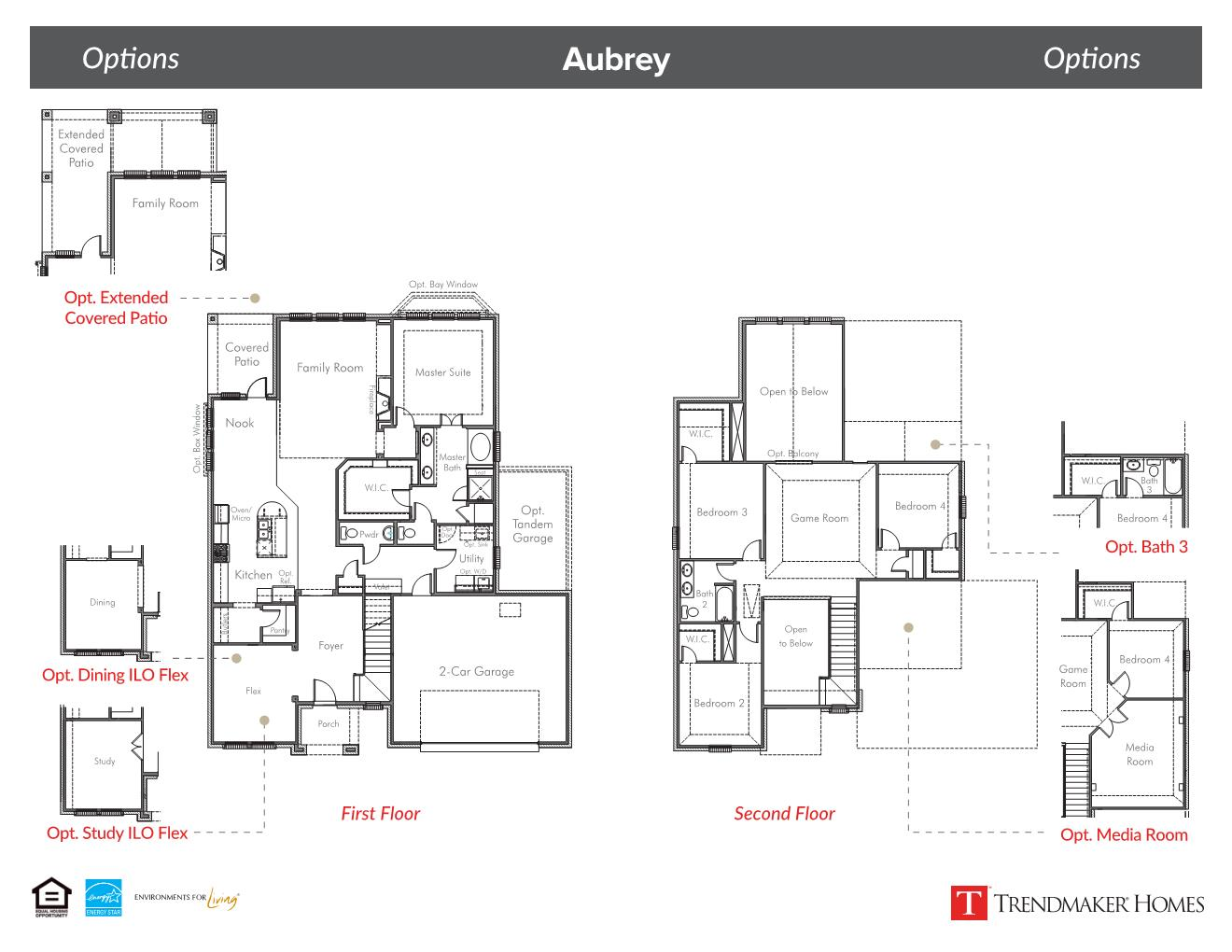 Aubrey Floor Plan - Vineyards