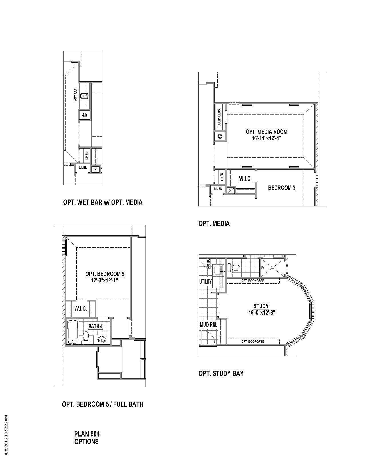 Plan 604 Floor Plan | American Legend Homes