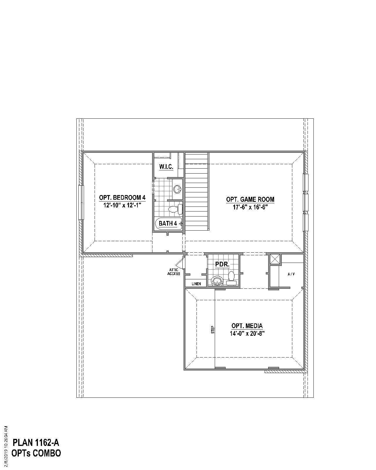 Plan 1162 Floor Plan