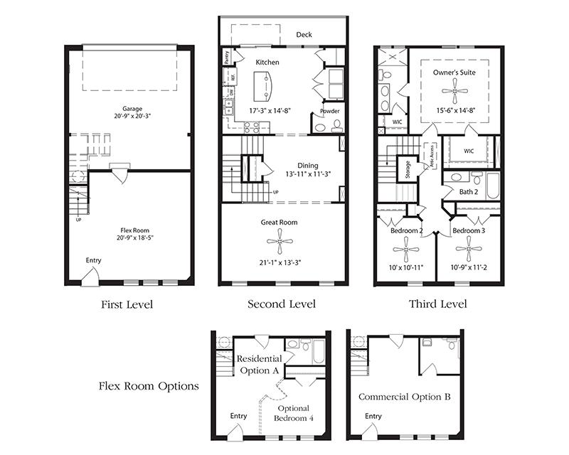 Highland Iii Live Work Floor Plan Nashville New Home