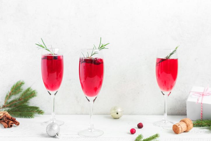 Cranberry mimosa.