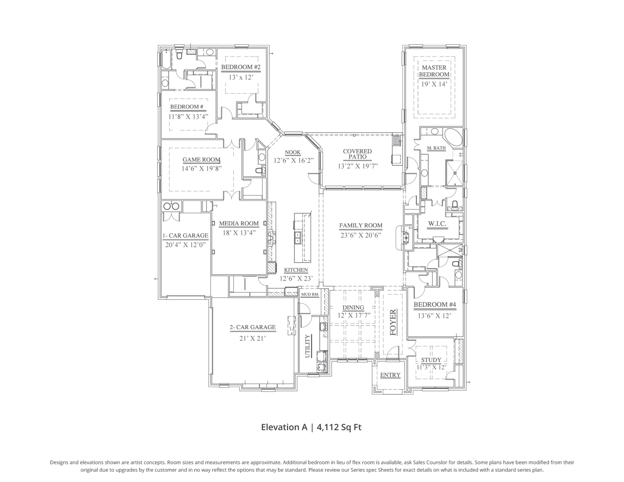 Colton Floor Plan In Dfw Our Country Homes