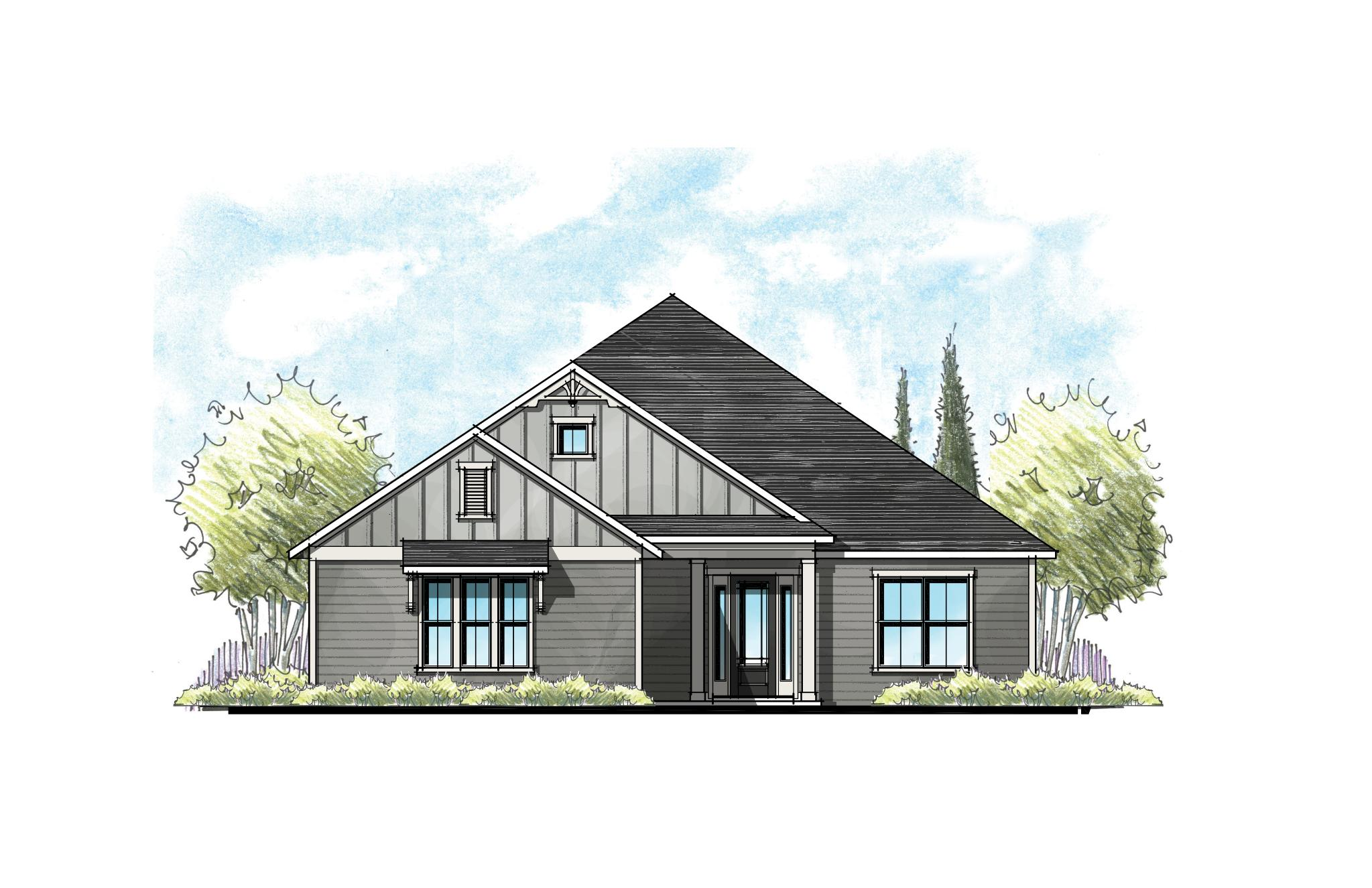 The Buckhorn Florida Farmhouse Elevation 5
