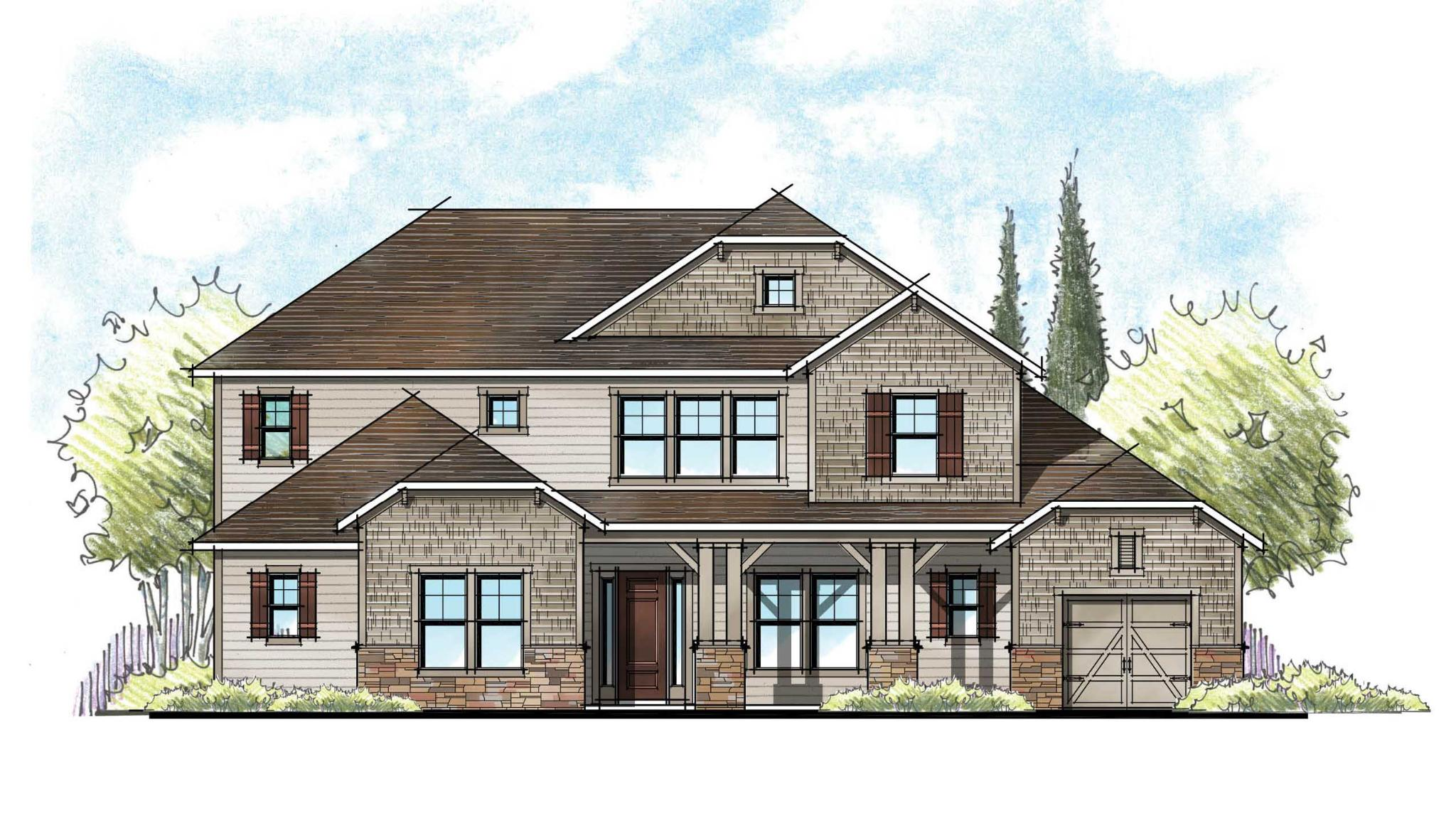 The Charlotte English Country Elevation 4