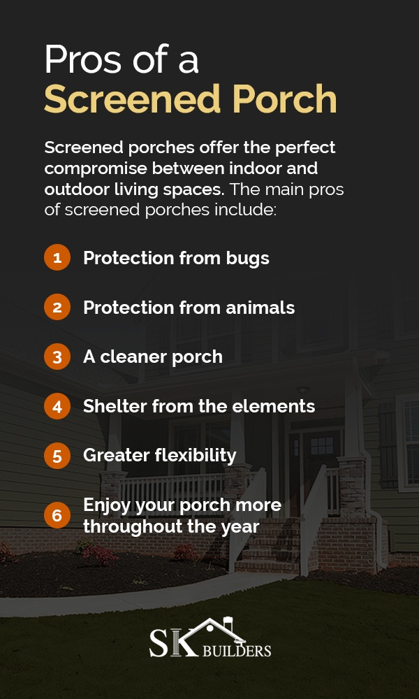 Pros of a Screened Porch