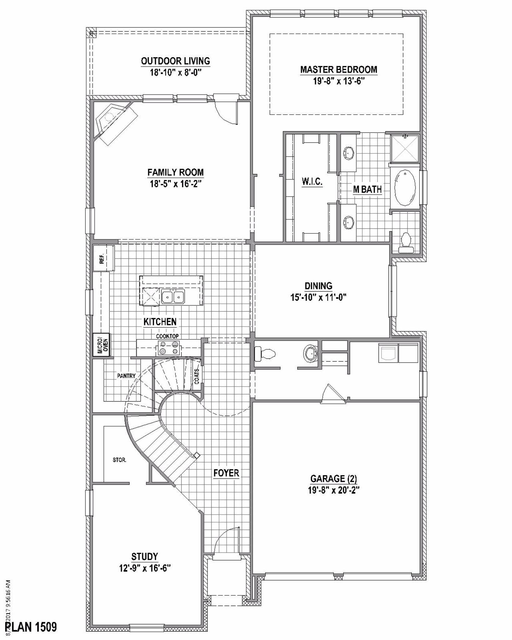 Plan 1509 Floor Plan American Legend Homes