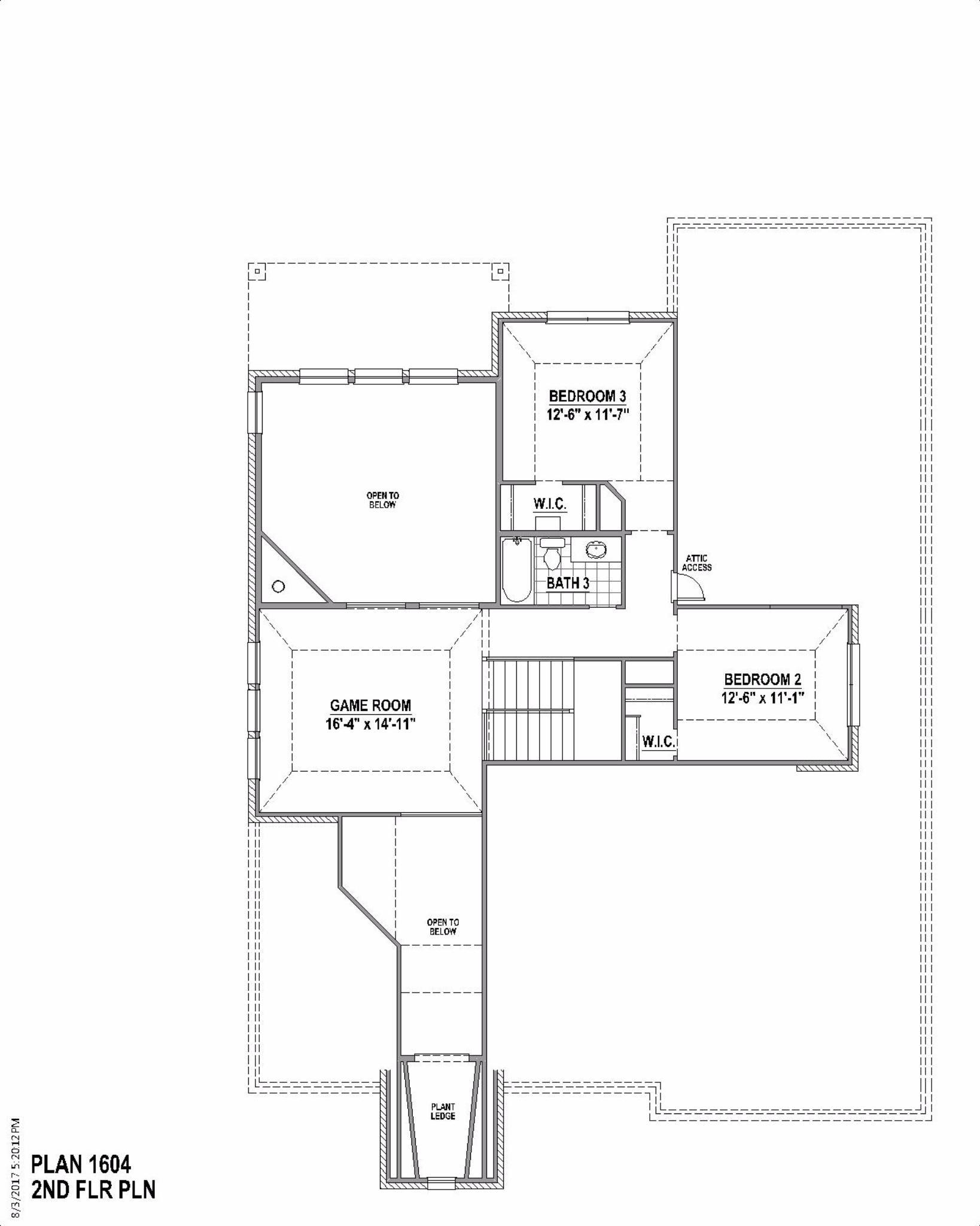 Plan 1604 Floor Plan American Legend Homes