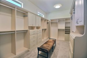 Master Closet with Custom Shelving, Storage and Racks of All Kinds
