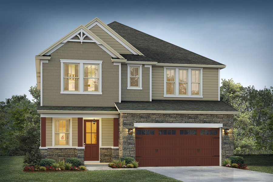 Delmar II Elevation 2  Driftwood Color Package