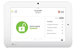 DSLD Homes smart home technology smart hub touchscreen