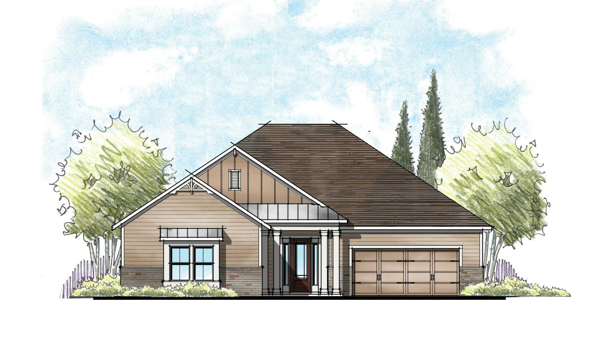 The Martin Farmhouse Elevation  1