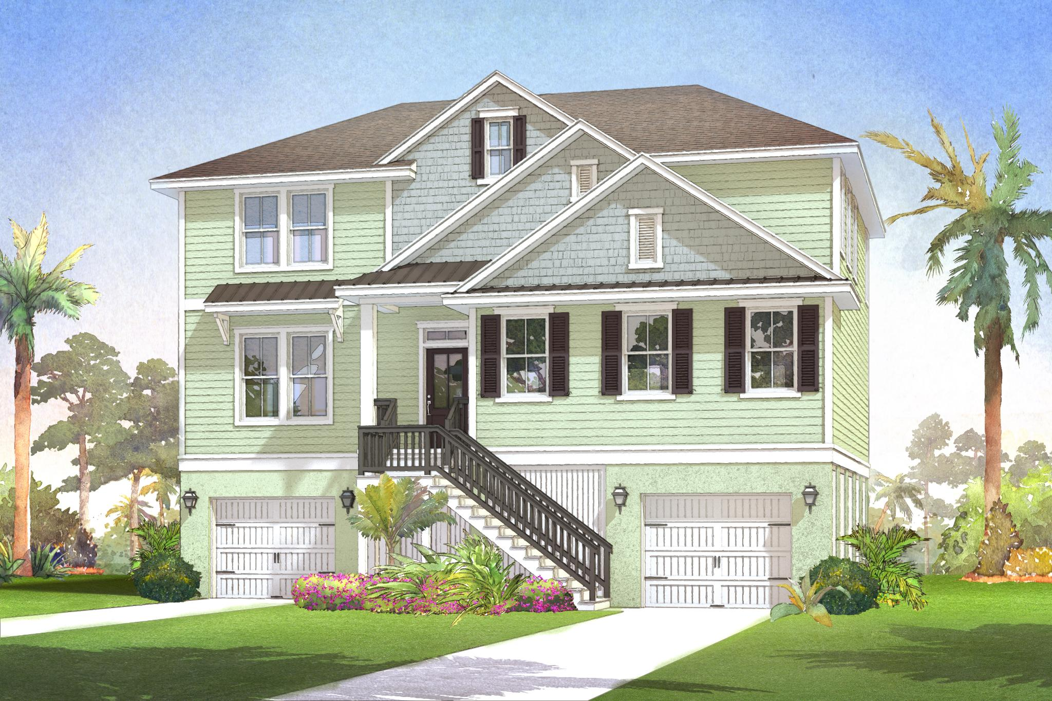 Topsail Craftsman Elevation
