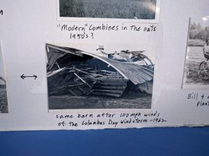 The Bartel Family Farm after The Columbus Day Windstorm in  1962 where wind speeds reached upwards of 100mph