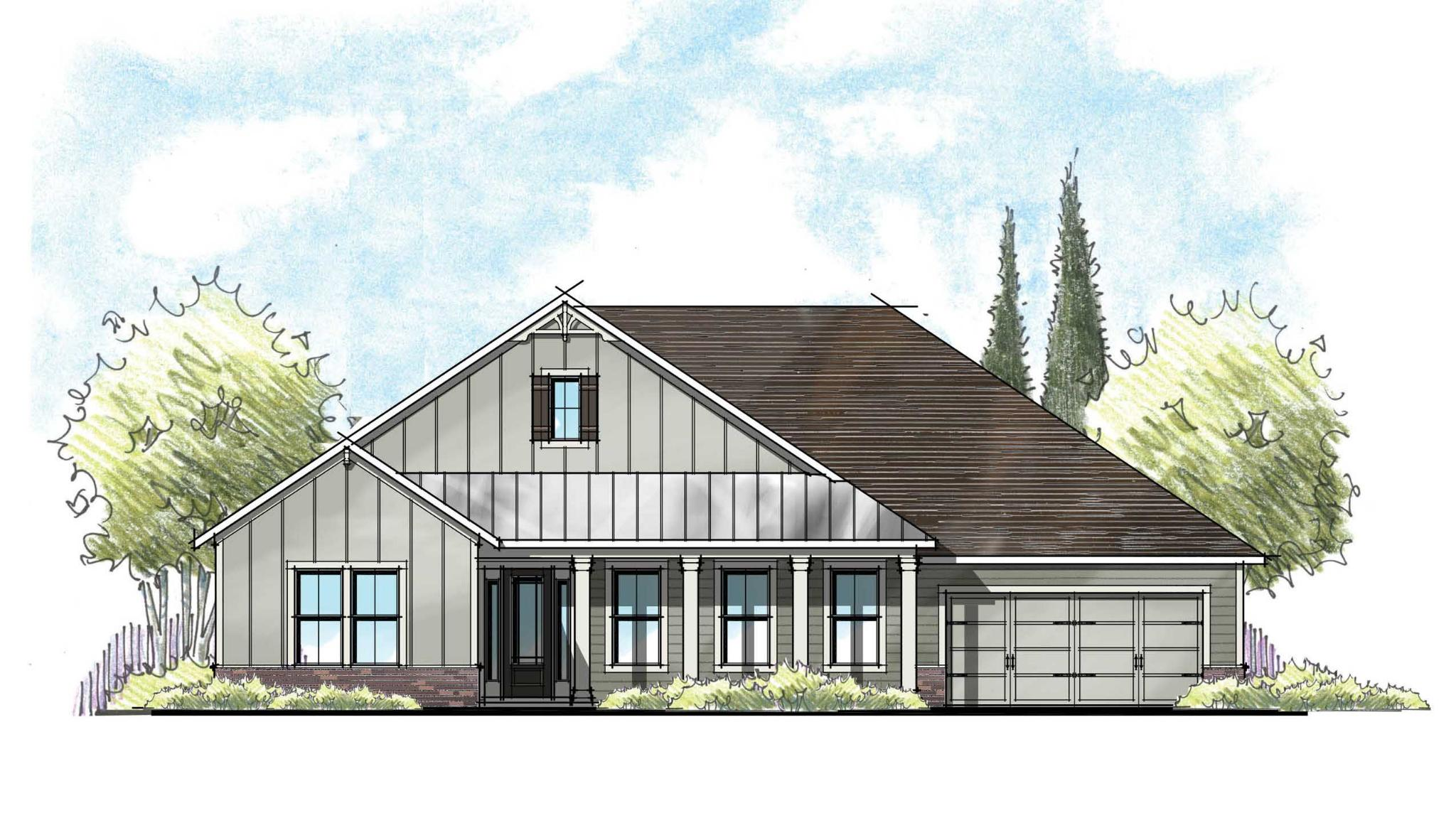 The Monroe Farmhouse Elevation 4