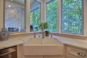 Kitchen Farmhouse Sink with Views