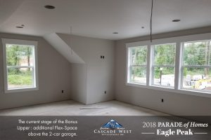 Parade of Homes 2018 : Eagle Peak : Upstairs Bonus Room : Currently Under Construction