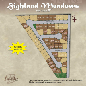 Highland Meadows Plat Map