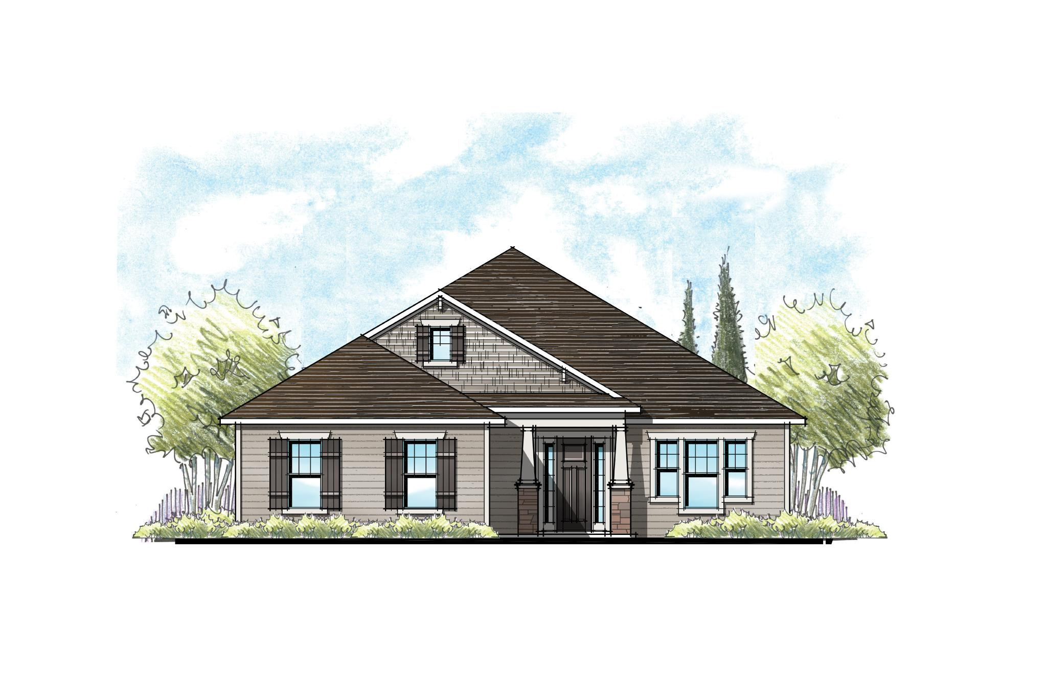 The Buckhorn at Crosswater Southern Craftsman Elevation 7
