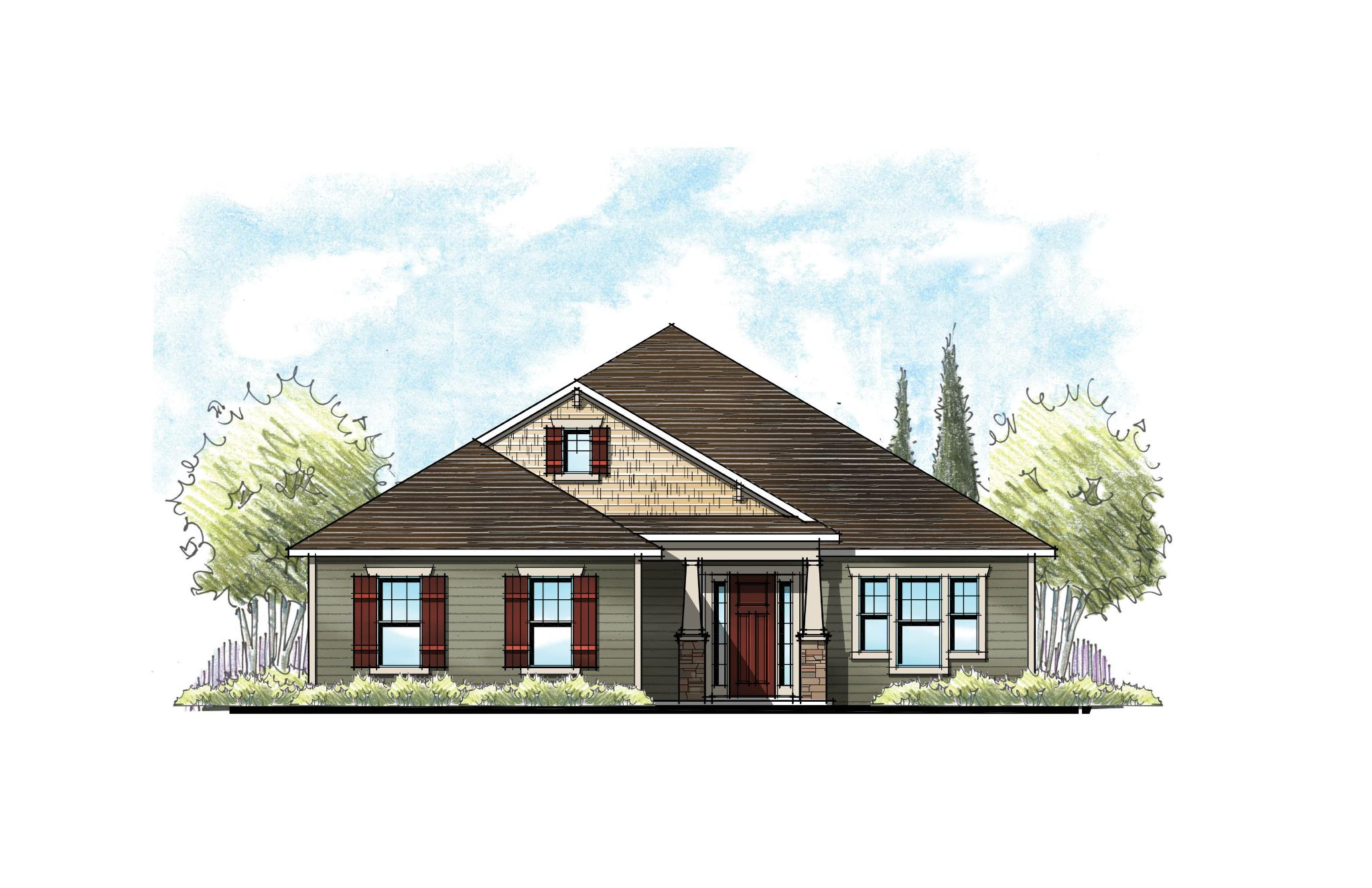 The Buckhorn Southern Craftsman Elevation 1