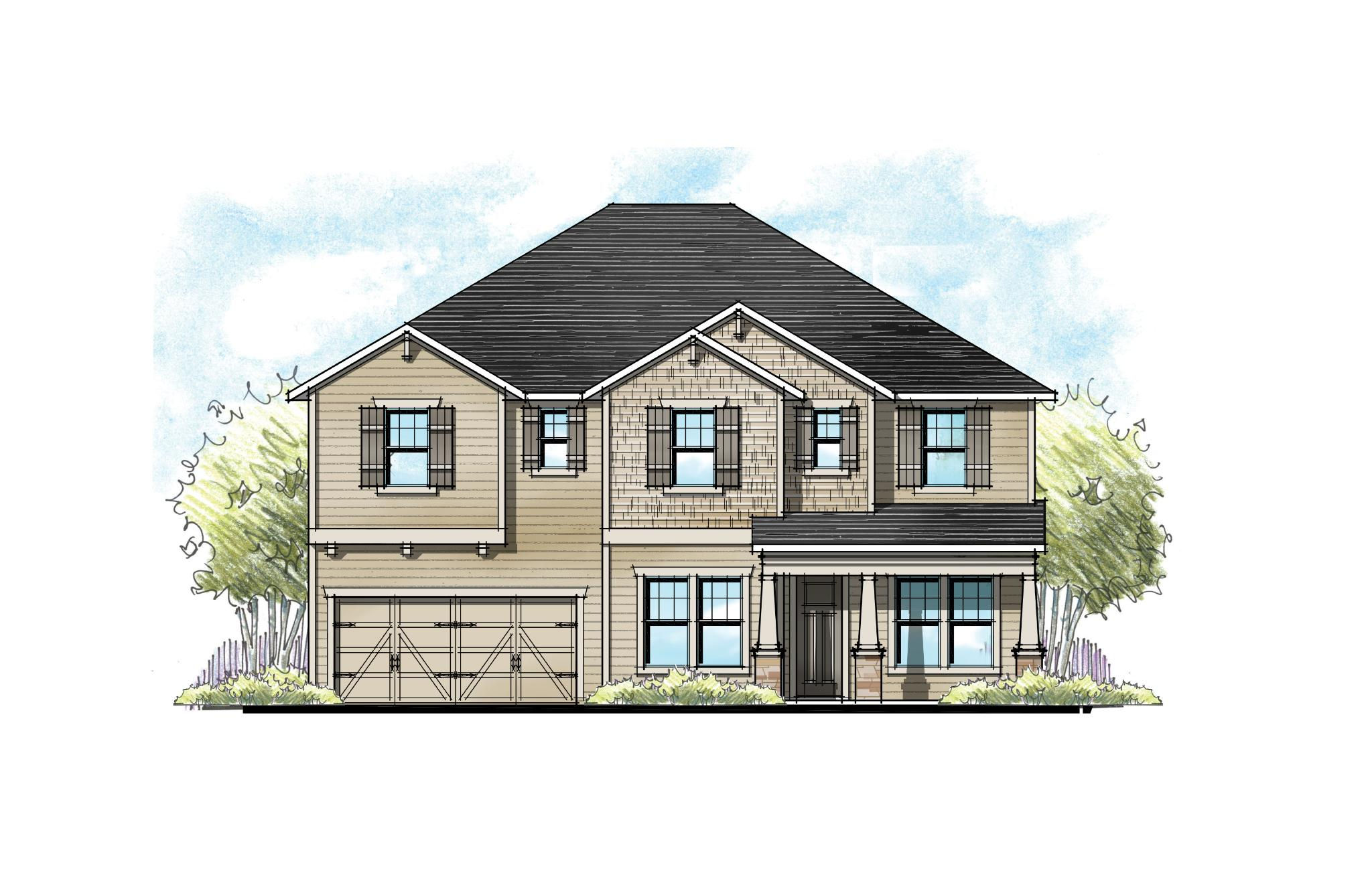The Alexander at Crosswater Southern Craftsman Elevation 9