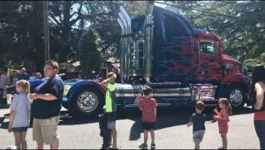 We even saw optimus prime of the Transformers® series at the parade!