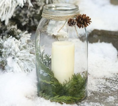mason jar holiday candles